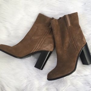 Kate Spade Brown Suede Leather Ankle Booties